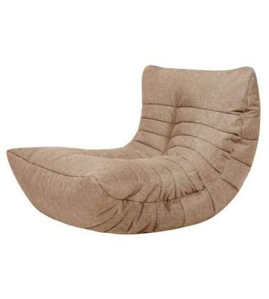 Бескаркасное кресло-кокон Папа Пуф Cocoon Chair one size, рогожка, Biege (бежевый)