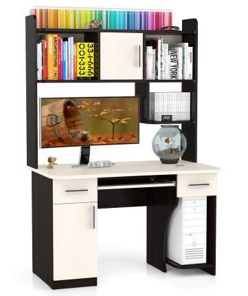 Компьютерный стол Мебельный Двор СК-7, дуб/венге
