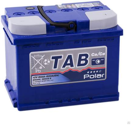 Аккумулятор TAB POLAR 60R 600A 242x175x190 121860