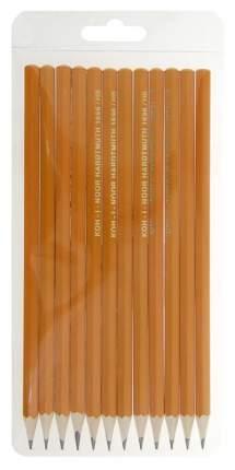 Набор карандашей чернографитных KOH-I-NOOR 1696012043TE Желтый 12 шт