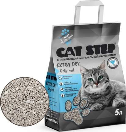 Впитывающий наполнитель для кошек Cat Step Extra Dry глиняный, 4.2 кг, 5 л