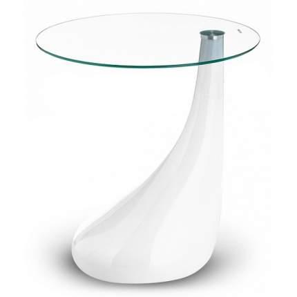 Журнальный столик Woodville Gota 11247 50х50х54 см, белый/прозрачное стекло