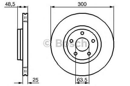 Тормозной диск BOSCH 0986479171