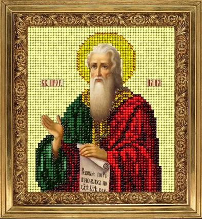 Набор для вышивания ювелирным бисером Краса и творчество 10815 Св.Илья 9,8х11 см