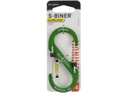 Карабин Nite Ize S-Biner SlideLock Aluminum #4 Lime