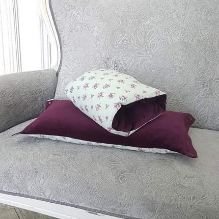 Подушка-трансформер для кормления TI AMO МАМА Magic Pillow мятные цветы, сливовый
