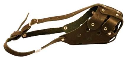 Намордник ГеоГазТехнология для собак кожа №3 полуглухой с перемычкой (овчарка мальчик)