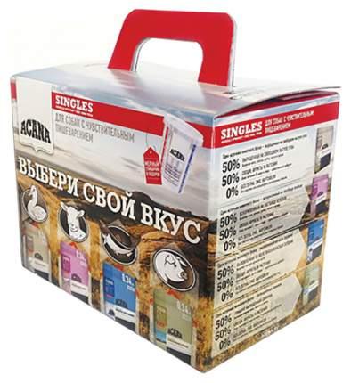 Сухой корм для собак ACANA Singles, Набор, рыба, свинина, утка, ягненок, 4шт по 0,34кг