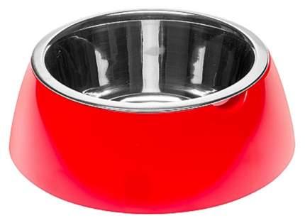 Одинарная миска для кошек и собак Ferplast, пластик, резина, сталь, красный, 0.85 л