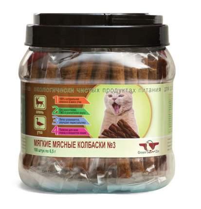 Лакомство для кошек GreenQZin Мягкие мясные колбаски, олень и утка, 650г