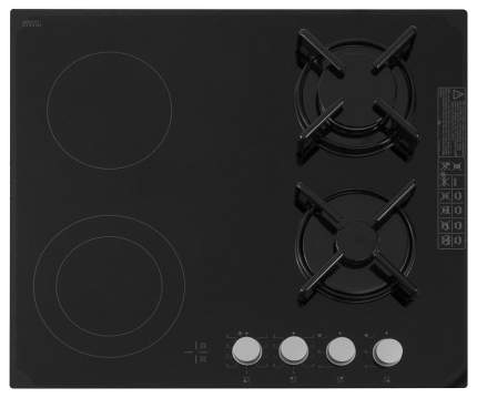 Встраиваемая варочная панель комбинированная Simfer H60N26S512 Black