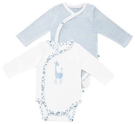 Комплект боди 2 шт детский Babydays 0408-300 HBG/f голубой р. 50