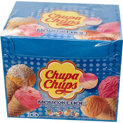 Карамель Chupa Chups мороженное ассорти 12 г 100 штук