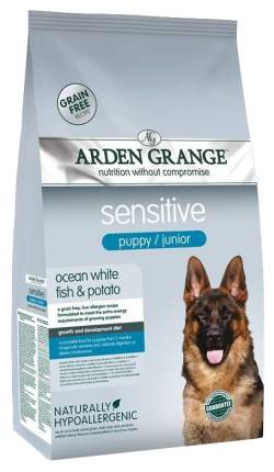 Сухой корм для щенков Arden Grange Sensitive Puppy/Junior, рыба, 15кг