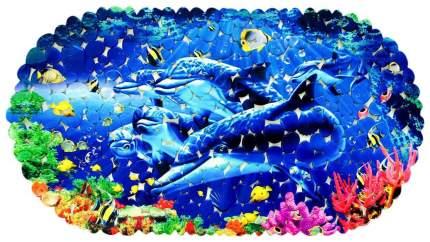 Коврик Бабаевский на присосках Дельфины 69*36 см