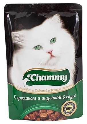 Влажный корм для кошек Chammy кролик и индейка в соусе, 85 г