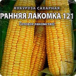 Семена Кукуруза сахарная Ранняя лакомка 121, 5 г, Русский огород
