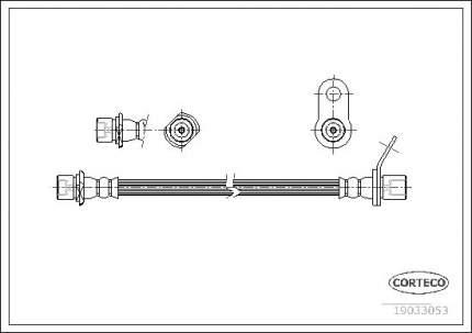 Шланг тормозной системы CORTECO 19033053