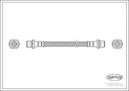 Шланг тормозной CORTECO 19034296