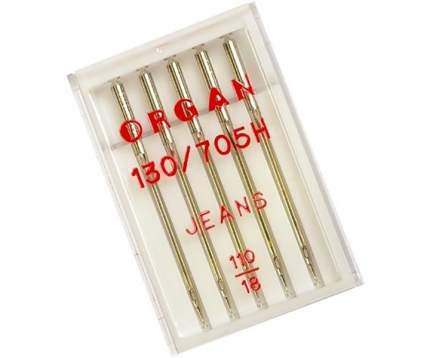 """Иглы """"Organ"""" джинсовые №110 для БШМ упак,5 игл"""