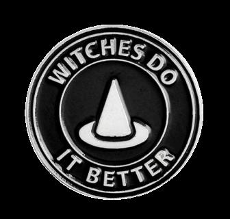 Значок Ведьмина шляпа, металл