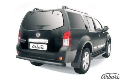 Защита заднего бампера d76 Arbori черный для Nissan PATHFINDER 2011-2014