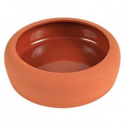 Одинарная миска для грызунов TRIXIE, керамика, оранжевый, 0.125 л