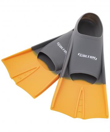 Ласты тренировочные Colton CF-01, серый/оранжевый, размер 30-32
