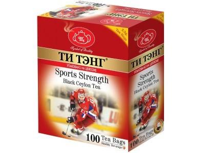 Чай черный в пакетиках для чашки Ти Тэнг Sports Strenght 100*2.5 г