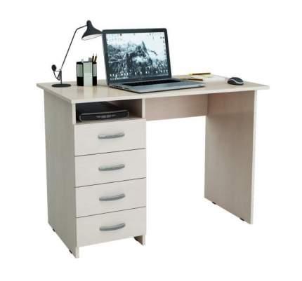 Стол компьютерный МФ Мастер Милан 60x110x75, дуб молочный