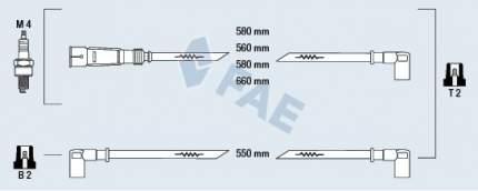 Комплект проводов зажигания FAE 85020