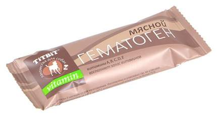 Лакомство для собак TiTBiT, гематоген мясной vitamin, 35г