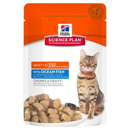 Влажный корм для кошек Hill's Science Plan Adult 1-6, рыба, 12шт, 85г