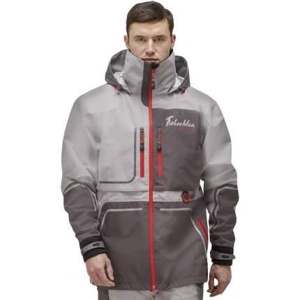 Куртка для рыбалки Nova Tour Fisherman Коаст Prime, серая/красная, XL INT, 182 см