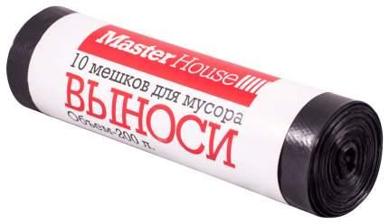 Мешки для мусора MasterHouse выноси черные 200 л 10 шт