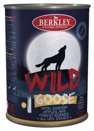 Консервы для собак Berkley Wild Goose №1 гусь с цукини, яблоками и лесными ягодами, 400 г