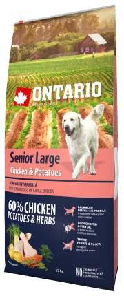 Сухой корм для собак Ontario Senior Large для пожилых крупных пород, курица картофель 12кг