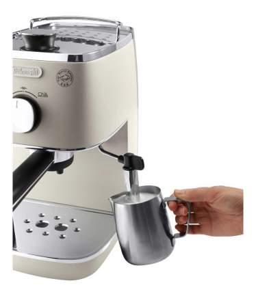 Кофеварка рожкового типа Delonghi ECI341,W