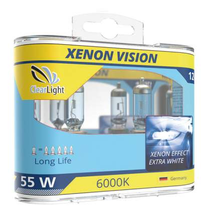 Лампа галогенная автомобильная Clearlight 55W XenonVision 2 шт (ML9006XV)