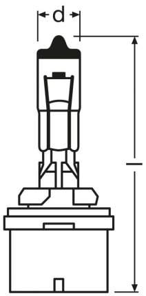 Лампа накаливания автомобильная OSRAM 24V T4W (3930)