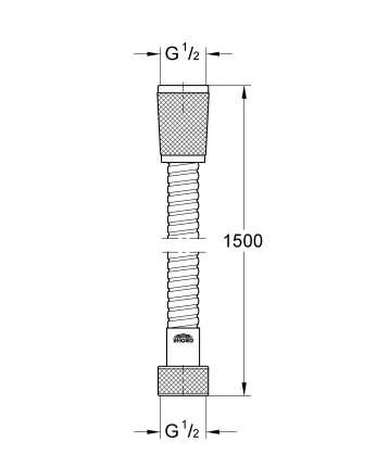 Душевой шланг Grohe 28143000 150см