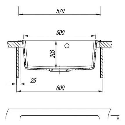 Мойка для кухни из мрамора Dr.Gans Nika 570 серый