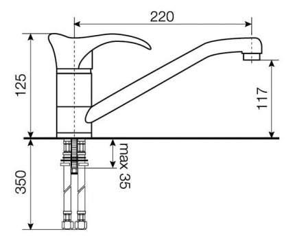 Смеситель для кухонной мойки LAVA SG04 DUN светлый беж