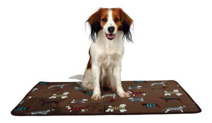 Коврик для собак TRIXIE FunDogs плюш, коричневый, 90x68 см