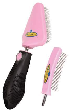Набор для груминга FURminator® пластик, резина, металл нескользящая ручка, сменная насадка