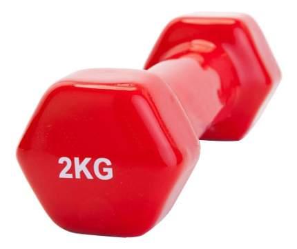 Гантель неразборная обрезиненная Bradex 2 кг красная