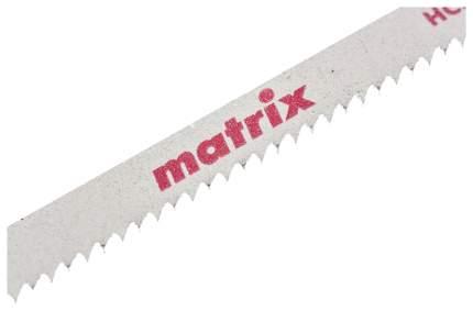 Пилки для лобзика MATRIX по дереву 3 шт T111B, 75 x 2 мм HCS 78225