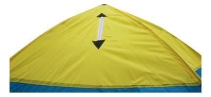 Палатка-автомат Стэк 4 трехместная белая/голубая/желтая