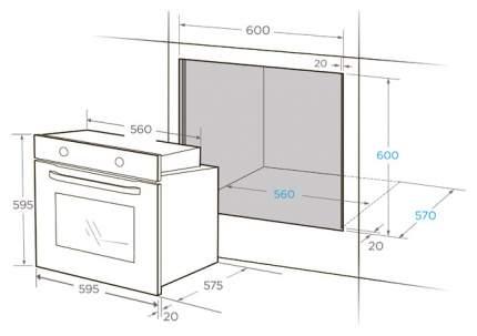 Встраиваемый электрический духовой шкаф Midea MO98200SCGB Black