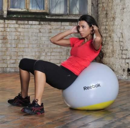 Гимнастический мяч Reebok RSB-10017 серый; желтый 75 см